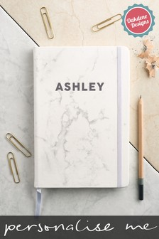 Personalised Marble A5 Notebook by Oakdene Designs