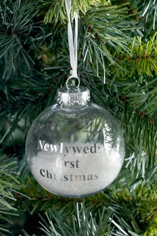Couple's First Christmas Bauble