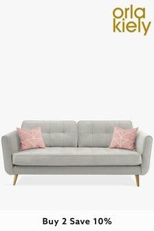 Orla Kiely Ivy Large Sofa with Oak Feet