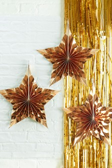 Set of 3 Ginger Ray Star Hanging Decorations