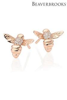 Beaverbrooks Cubic Zirconia Bee Earrings