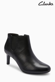 Clarks Black Almond Toe Dancer Sky Ankle Boot