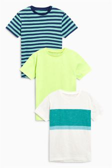 Striped T-Shirts Three Pack (3-16yrs)