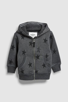 Star All Over Print Zip Through Hoody (3mths-6yrs)