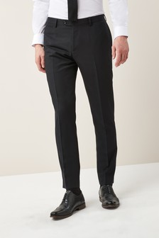 Check Slim Fit Tuxedo Suit: Trousers