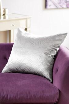Metallic Velvet Geo Large Square Cushion