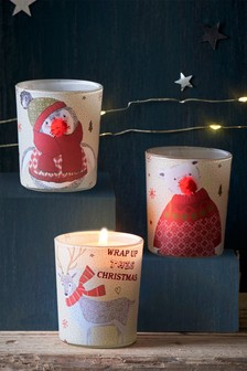 Set of 3 Festive Spice Candles