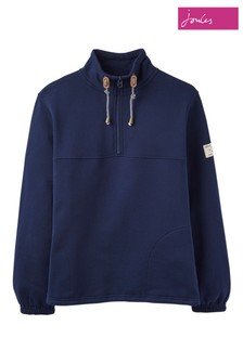 Joules Blue Bewley Casual Half Zip Sweat