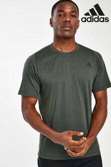 adidas Khaki Logo Training T-Shirt