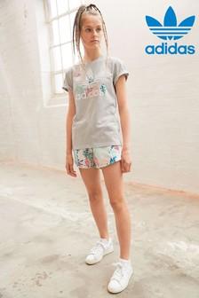 Șort adidas Originals cu imprimeu floral