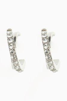 Jewelled Small Hoop Earrings