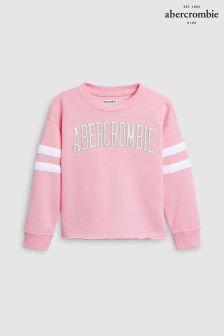 Abercrombie & Fitch Pink Logo Crew