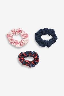 Haargummis mit Kirschen-Design, Dreierpack