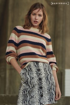Warehouse Pink Chunky Stripe Jumper