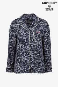 Superdry Navy PJ Shirt