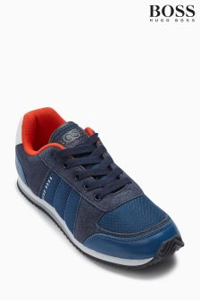 BOSS Navy Classic Trainer