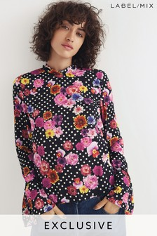 Mix/Natasha Zinko Floral Print Top