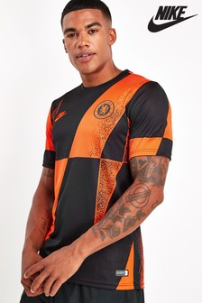 Nike Dri-FIT Black/Orange Chelsea Football Club T-Shirt