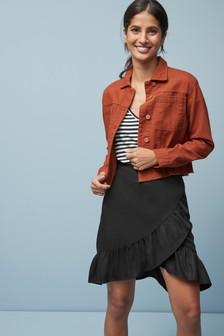 Tencel® Wrap Ruffle Skirt