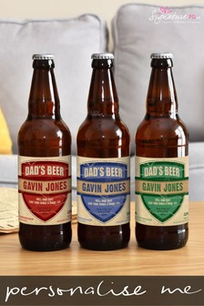Personalised Dad's Set of 3 Beers by Signature Gifts
