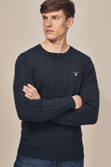 GANT Cotton Cable Crew Neck