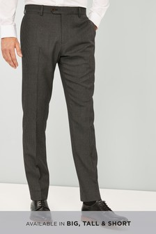 Puppytooth Wool Blend Slim Fit Trousers