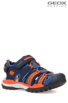 Geox Borealis Boy Navy Orange Sandal