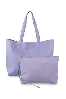 Oliver Bonas Lilac Seren Contrast Inner Tote Bag