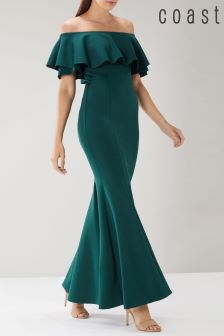 Coast Green Chloe Bardot Maxi Dress