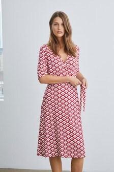 Geo Wrap Dress