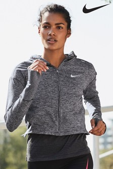 Nike Element Grey Running Hoody