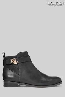 Ralph Lauren Black Bonnie Boots
