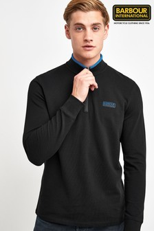 Barbour® International Black Bleaser Half Zip Jumper