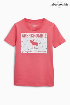 Abercrombie & Fitch Pink Moose Logo T-Shirt