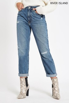 3abd1c4e25 River Island Mid Wash Mom Jean