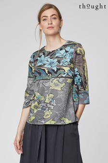 Thought Grey Lily Nouveau Top