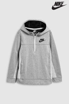Nike Grey AV15 Half Zip Hoody