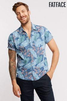 FatFace Blue Hawaiian Print Shirt