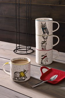 Set of 4 Animal Stacking Mugs