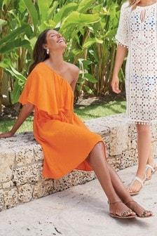 Sukienka z asymetrycznymi ramiączkami