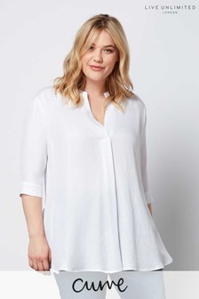 Live Unlimited White Chambray Shirt