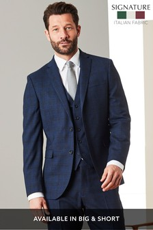 T G Di Fabio Signature Check Suit: Jacket