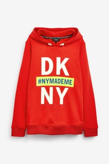DKNY Red Logo Hoody