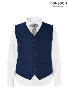 Monsoon Navy Hudson Three Piece Waistcoat Set