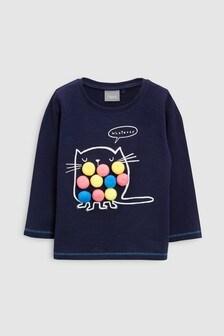 Pom Pom Long Sleeve T-Shirt (3mths-6yrs)