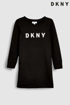Rochie cu logo DKNY Girls