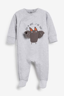 Halloween Interactive Bat Sleepsuit (0-18mths)