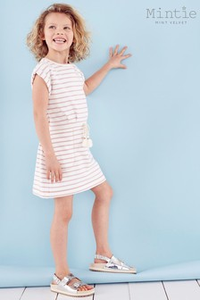 Mintie by Mint Velvet Ivory Striped Sweatshirt Dress