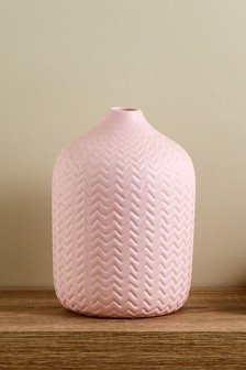 Chevron Ceramic Vase