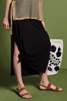 Tie Side Maxi Skirt